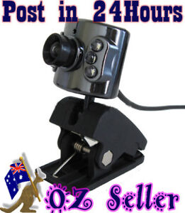 PC Camera with 6 Night Lights,No driver need, 5MP