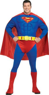 Superman Gents Costume Halloween Fancy Dress X Lge Man