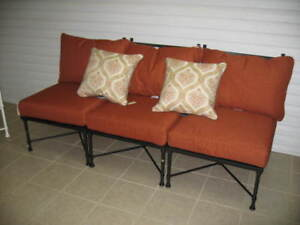 Image Is Loading Pottery Barn Potrero Outdoor Oversized  Sectional Sofa Armless
