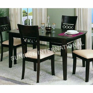 Details About Stylish Wooden Dining Set 1 Table 4 Chairs