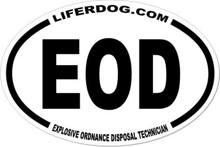 4x6 USN  EOD EXPLOSIVE ORDNANCE DISPOSAL TECH  STICKER