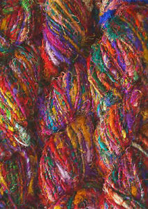 1-Quality-Rercycled-Soft-Silk-Sari-Crochet-Yarn-100-gm