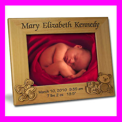 4x6 PERSONALIZED CUSTOM BABY PICTURE FRAME GIFT