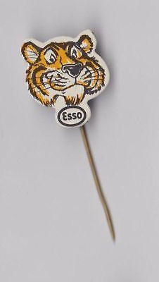 Vintage Esso oil fuel pin badge 1960s Tiger
