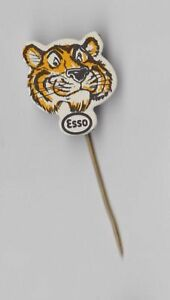 Vintage Esso oil fuel pin badge 1960s Tiger