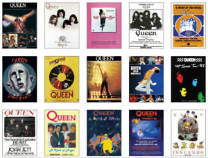 Queen-Freddie-Mercury-Concert-Posters-Trading-Card-Set