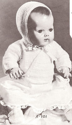 Knitting Pattern 10-18 Baby Doll Clothes Sweater Cap