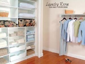 LAUNDRY-ROOM-Home-Bedroom-Vinyl-Wall-Art-Decal-36