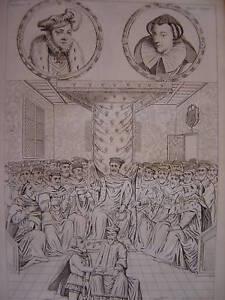 Gravure FRANCOIS 1er Marie Stuart Chevalier HENRI II - France - Période: XIXme et avant - France