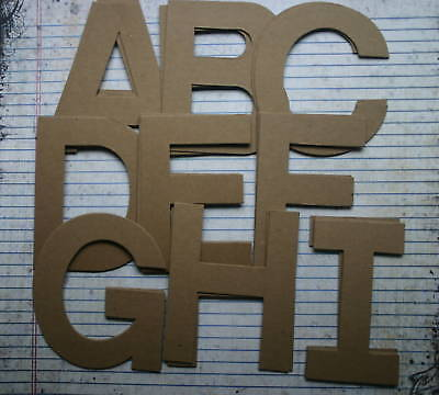 4 Chipboard Block Uppercase Unfinished/raw Alphabet 26 Letters