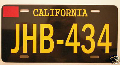 Two Lane Blacktop 55 Chevy Gasser License Plate Jhb434