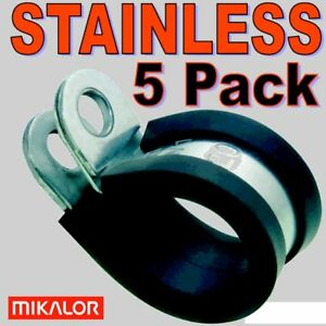 5-x-13mm-MIKALOR-STAINLESS-P-CLIPS-1-2-FUEL-PIPE-HOSE