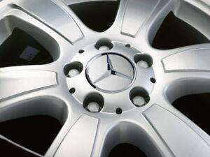4 x origi Mercedes Abdeckung Nabenkappen Alufelgen Stern klein Ø 55mm Citan neu