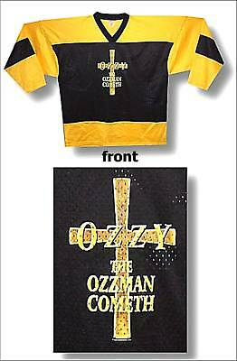 "OZZY OSBOURNE ""OZZMAN COMETH"" YELLOW/BLACK HOCKEY JERSEY SHIRT XL NEW X-LARGE"