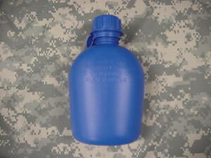 NEW-US-MILITARY-1-QUART-PLASTIC-CANTEEN-BLUE