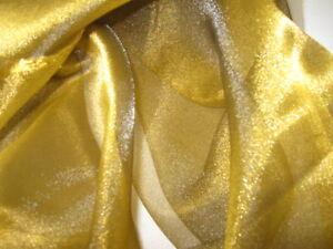 crystal organza in gold stoff meterware neu. Black Bedroom Furniture Sets. Home Design Ideas