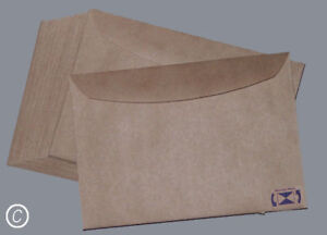 25 Envelopes Kraft Craft Recycled Brown C6