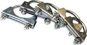 "ASSORTED PACK EXHAUST 'U' CLAMPS 1 1/2"" TO 2""  QTY 25"