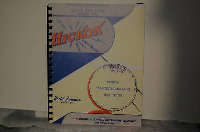 Operating Manual For Hickok 539 Tube Tester