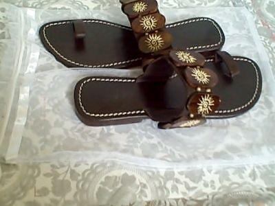 $69 Vero Cuoio Sumatra Sun Sandals Flats Brown 6 M Cute