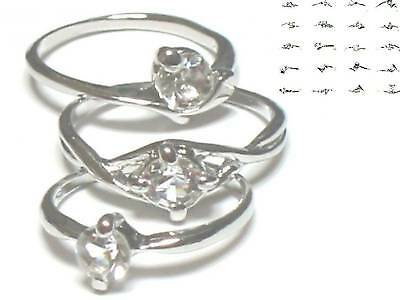 200 simulated diamond RINGS WHOLESALE LOT GIRL