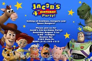 Personalized Toy Story Invitations was luxury invitation design