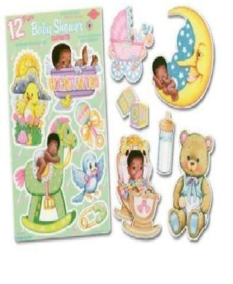 12 Cute African American Baby Decorations Black Wall Shower Decorations
