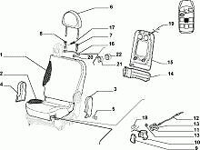 fiat multipla front centre seat folding cable new ebay. Black Bedroom Furniture Sets. Home Design Ideas
