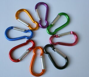 MINI-Carabiners-LOT-of-10-Multiple-Colors