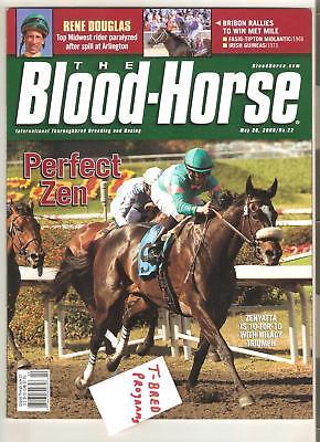 ZENYATTA 1ST EVER BLOOD HORSE PROGRAM MINT NO LABEL BLOODHORSE