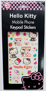 HELLO KITTY MOBILE PHONE KEYPAD STICKERS *CARDED *NEW