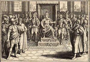 Antique-gravure-print-Matthaus-Merian-1657-stampa-antica-holzstich