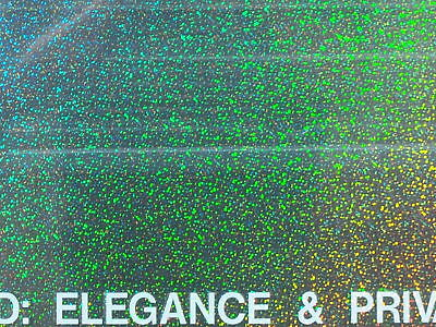 Sparkle Design Holographic Window Tint Film 60 Wide X 100 Foot Long Rolls