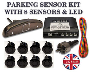 Parking Reversing 8 Sensors buzzer LED displayer system