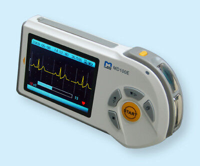Md100e Handheld Ecg/ekg Monitor,color Screen Charger W/disposalbe Snap Electrod