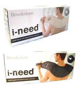 Brookstone-iNeed-i-Need-Heated-Thumping-Neck-amp-Back-Shoulder-Massager-by-Osim