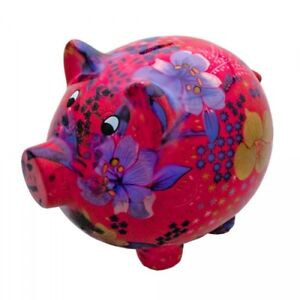 Extra Large Pink Pig Money Box Piggy Bank Savings Coins Ebay