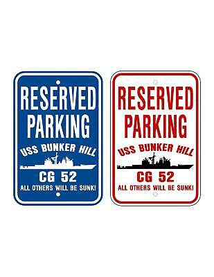 Uss Bunker Hill Cg 52 Parking Sign U S Navy Usn Military