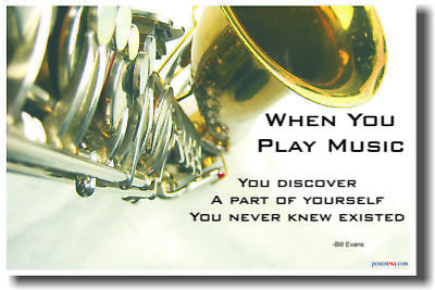 When You Play Music - Music Saxophone Sax Poster