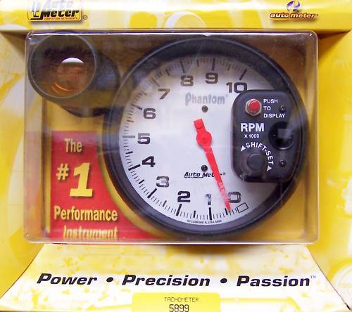 autometer monster tachometer phantom shift light 5899 ebay. Black Bedroom Furniture Sets. Home Design Ideas