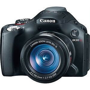 Canon-PowerShot-SX30-IS-14-1-MP-Digital-Camera-Black-CAMERA-ONLY