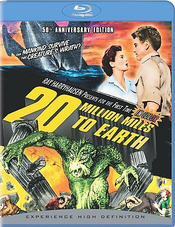 20 Million Miles to Earth (Blu-ray Disc, 50th Anniversary Edition) Region Free