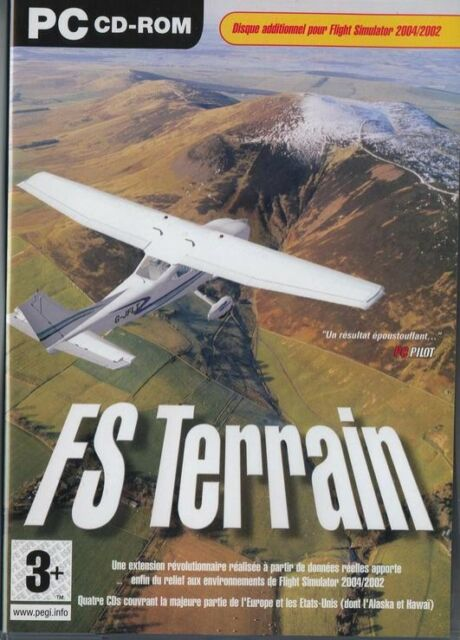 FS TERRAIN Expansion Add-on For Flight Simulator 2004 / 2002  FREE P&P