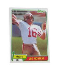 Topps Joe Montana Original Single Football Trading Cards