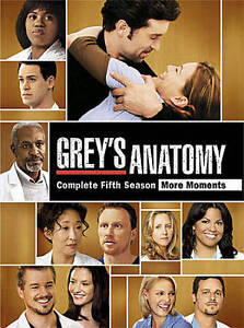Grey's Anatomy Complete Fifth Season DVD 1032 Mins 7 Disc Set
