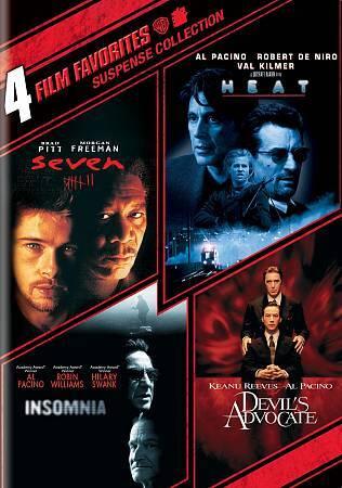 4 Film Favorites: Suspense Devil's Advocate, Heat, Insomnia, Seven 1