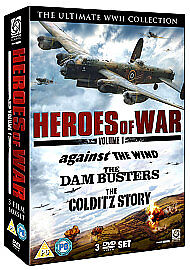 Heroes-of-War-Vol-1-Dambusters-The-Against-The-Wind-Colditz-Story-DVD-New