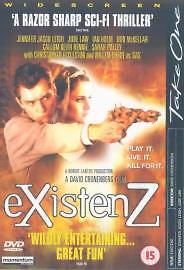 Existenz DVD 2002 New and Fully Sealed - <span itemprop=availableAtOrFrom>Cheshunt, Hertfordshire, United Kingdom</span> - Existenz DVD 2002 New and Fully Sealed - Cheshunt, Hertfordshire, United Kingdom