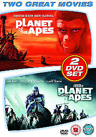 Planet-Of-The-Apes-1968-Planet-Of-The-Apes-2001-DVD-2007-2-Disc-Set-Box-Se
