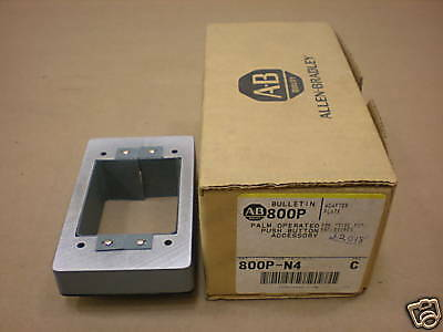 1 Allen Bradley 800p-n4 Pushbutton Adapter Plate For Type 800pn4 Series C